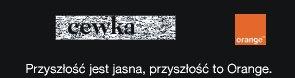 Obrazek CAPTCHA na stronach Orange ? słowo CEWKA trudne do przeczytania