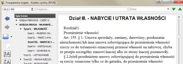 Kodeks cywilny w EPUB