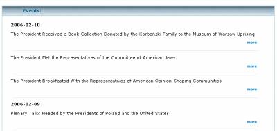 Aktualności na stronie Prezydenta RP