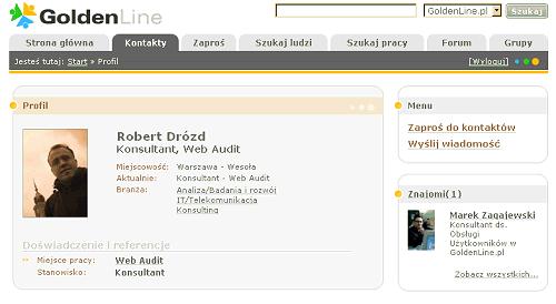 Podgląd profilu w GoldenLine.pl