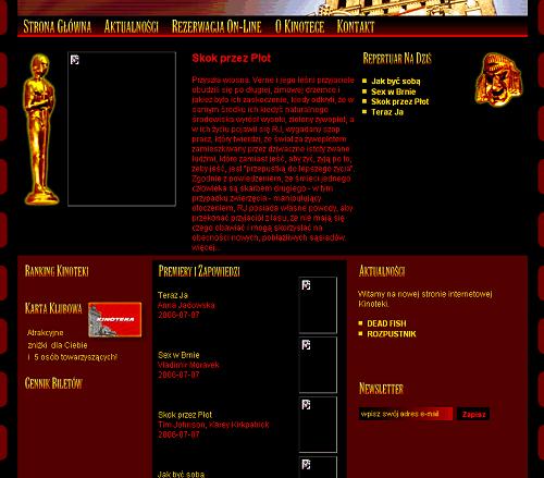 Kinoteka - strona główna - brak informacji o repertuarze na następne dni