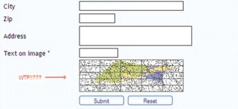 Zupełnie nieczytelna CAPTCHA