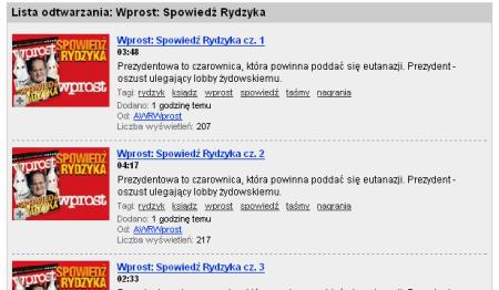 Strona Wprost na YouTube