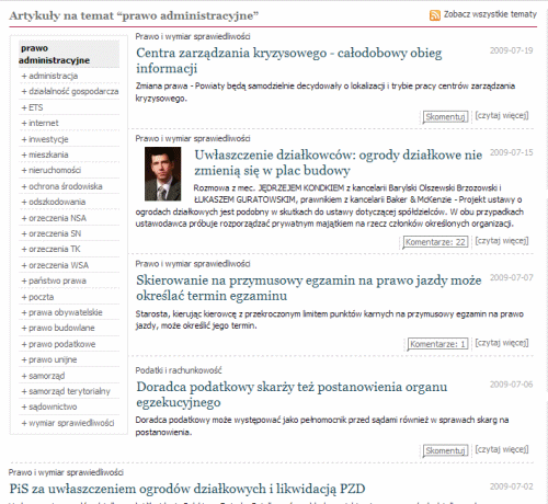 Strona tagu na Gazetaprawna.pl