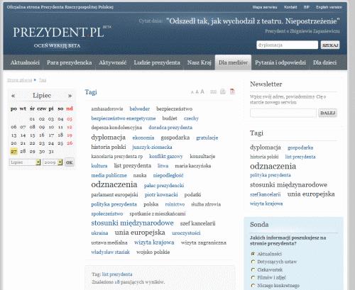 Strona tagu List prezydenta