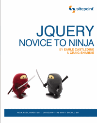 Okładka jquery: novice to ninja