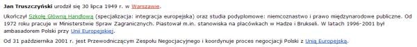 Jan Truszczyński - moje pierwsze hasło z Wikipedii