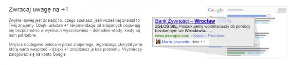 Fragment opisu plusika Google z ich strony