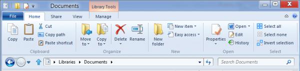 Windows Explorer - zakładka główna