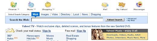 Yahoo - cała strona